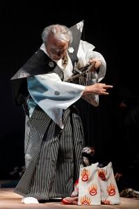 アヴィニヨン古典公演「本朝廿四孝」を演じる12代目結城孫三郎 ©Christophe Raynaud de Lage